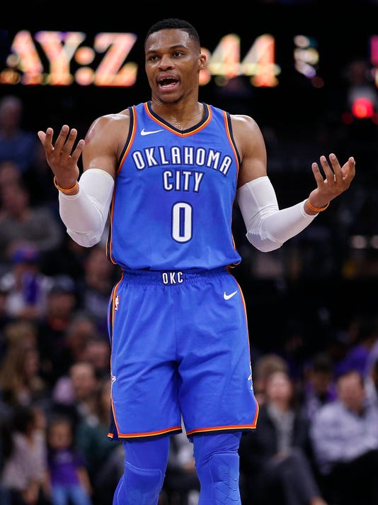 USP NBA: OKLAHOMA CITY THUNDER AT SACRAMENTO KINGS S BKN SAC OKC USA CA