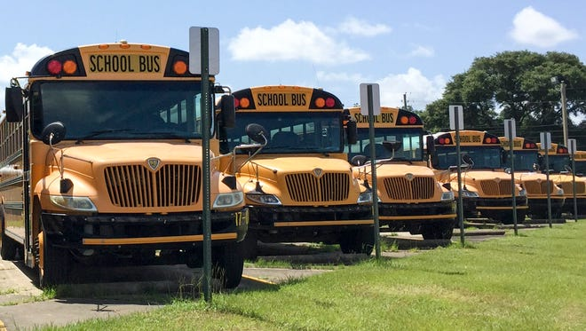 Escambia County school buses.