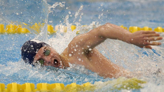 Pittsford's Casey Ransford swims in the 200-yard freestyle during a meet at the Victor Schools Aquatic Center on Jan. 5, 2017.