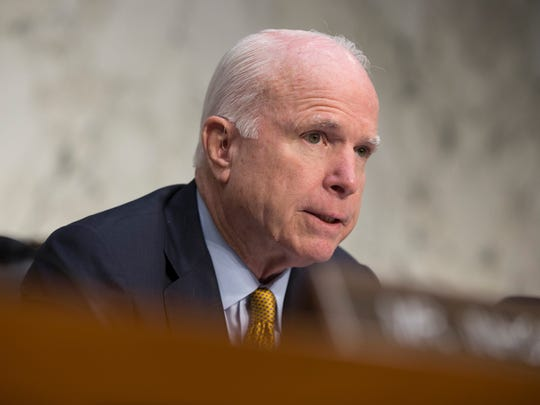 Senate Armed Services Committee Chairman Sen. John McCain, R-Ariz.