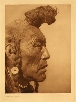"""E.S. Curtis' """"Bear Bull--Blackfoot,"""" a 1926 photogravure, is on display as part of the summer 2017 exhibits at the C.M. Russell Museum."""