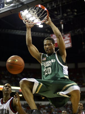 CSU's Ronnie Clark dunks against UNLV during the Rams' win over the Rebels in the 2003 Mountain West tournament championship game in Las Vegas.