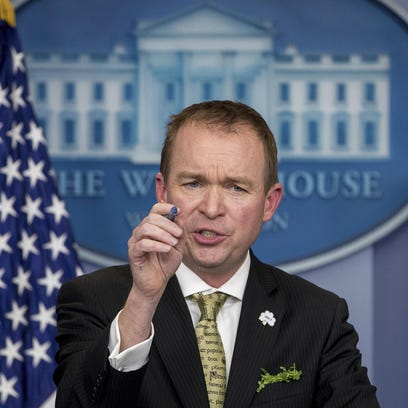 Budget Director Mick Mulvaney speaks about President