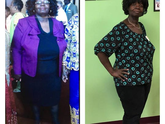Edith Chewning, of New Castle has lost 60 pounds in