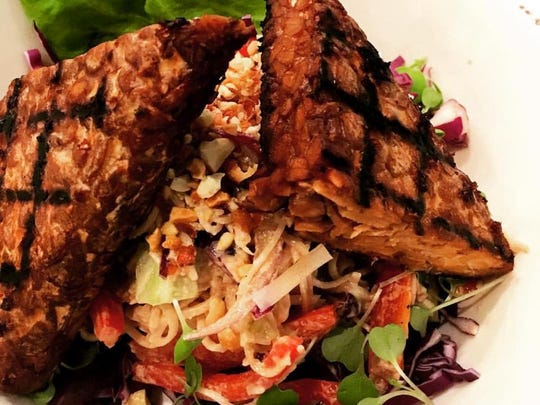 A Different Kitchen in Milton showcased this grilled tempeh peanut noodle bowl as a special.