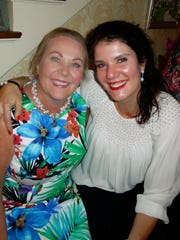 Martha Ross and Dr. Sarah Glorioso pose at Ross' home