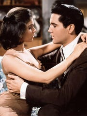 """Yvonne Craig and Elivs Presley appear in a scene from 1963's """"It Happened at the World's Fair."""""""