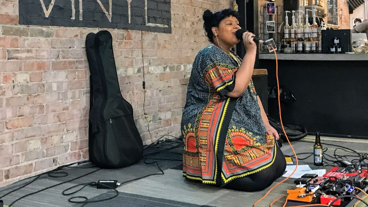 """KO performs """"I Walk by Your Side"""" on the March 5, 2018, episode of """"Dogfish Head Brewery presents IndyStar Sessions at Square Cat Vinyl."""""""