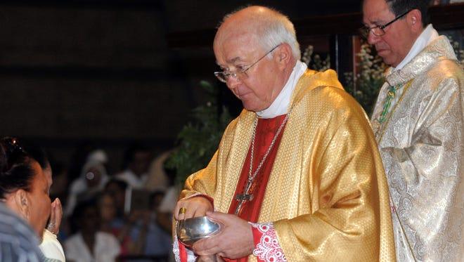 Archbishop Josef Wesolowski, papal nuncio for the Dominican Republic, leads a Mass in Santo Domingo, Dominican Republic in 2013.