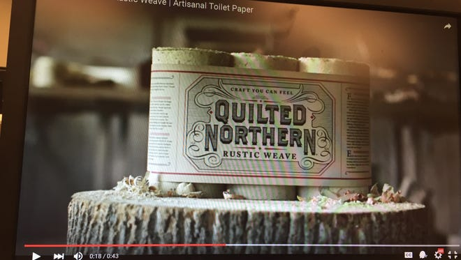 """""""Quilted Northern Rustic Weave"""" launched in April Fool's Day video prank."""