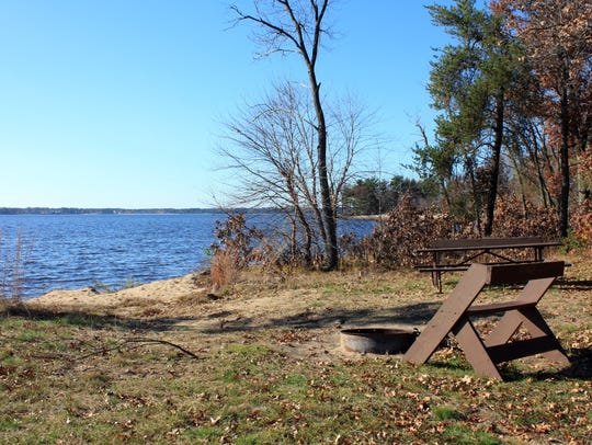 Backpack campsites at Buckhorn State Park are located