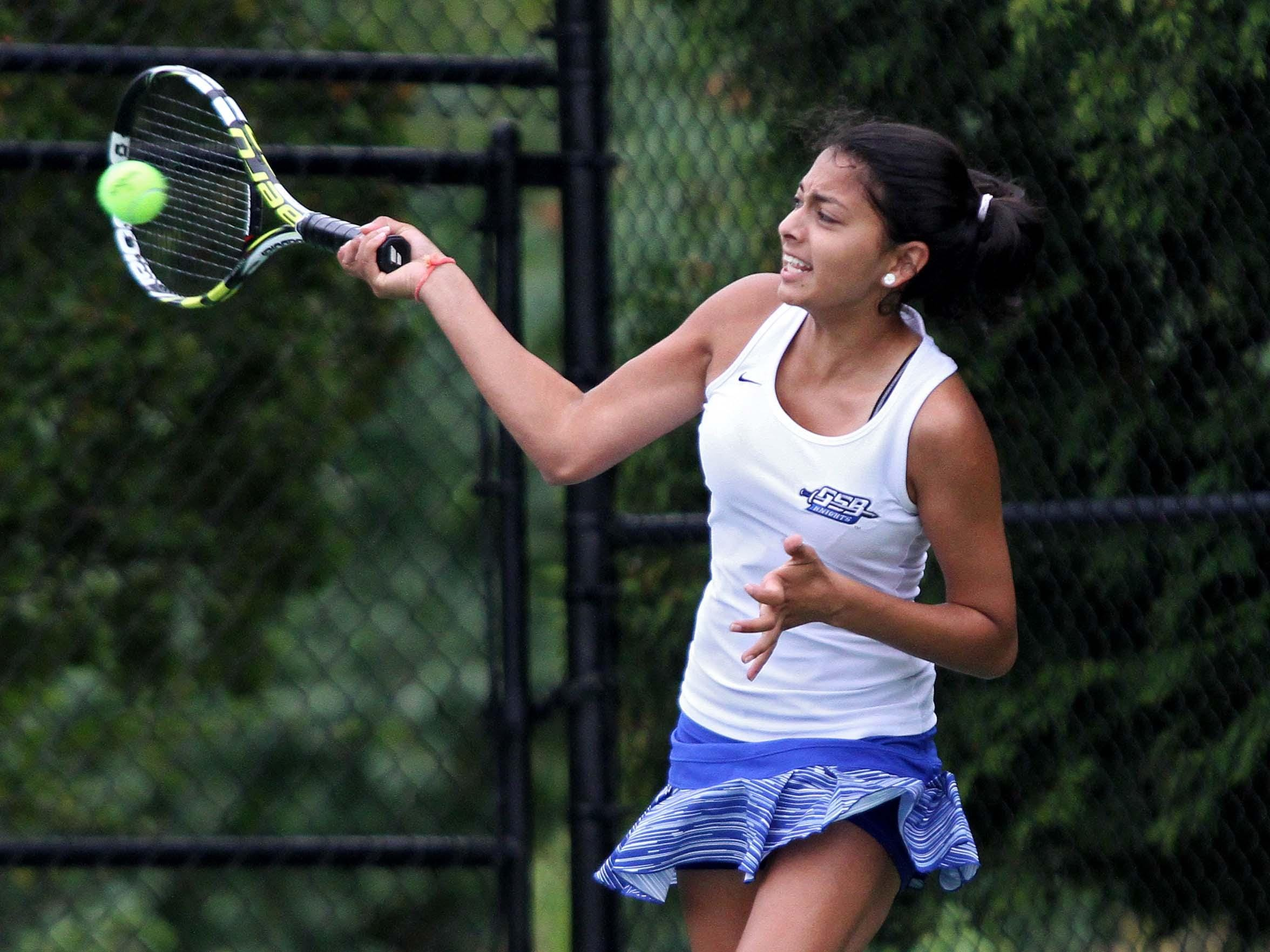 Krishna Patel of Gill St. Bernard's is the Courier News Girls Tennis Player of the Year.