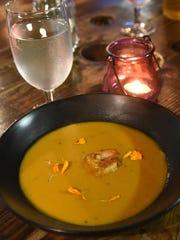 On Chef Eleazar Mondragon's menu was Shrimp and Hoja