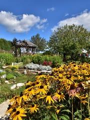 The Garden Door has evolved into a lush, colorful garden