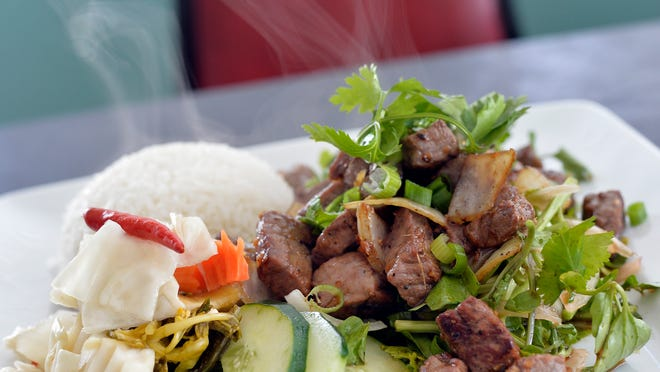Shaking Beef at MeKong on Thursday, September 18, 2014.