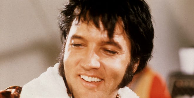 "Elvis in the 1970 performance film, ""Elvis: That's the Way It Is."""