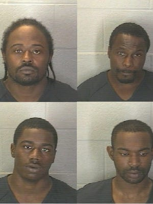 Flenard Millsap (top left), Lavelle Banks (top right), Davon Ganier (bottom left) and Korey Bryant were arrested Oct. 25 during a heroin bust in the 900 block of North 10th Street.