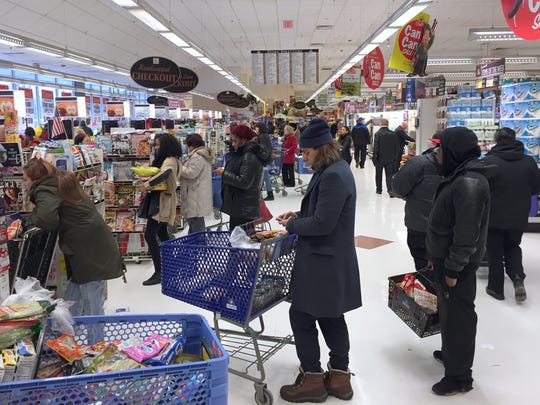 The ShopRite grocery in West Nyack was busy with shoppers