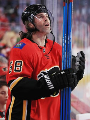 Flames right wing Jaromir Jagr had a goal and six assists in 22 games this season for the Flames and hasn't played since Dec. 31 because of what the team called a lower-body injury.
