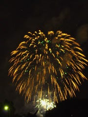 Fireworks lit up the night during the Freedom Festival