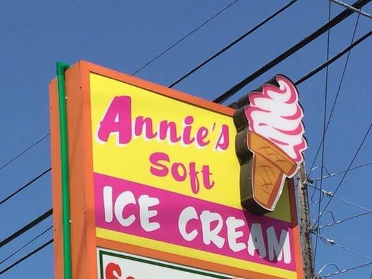 Annie's Soft Ice Cream is featured prominently at the