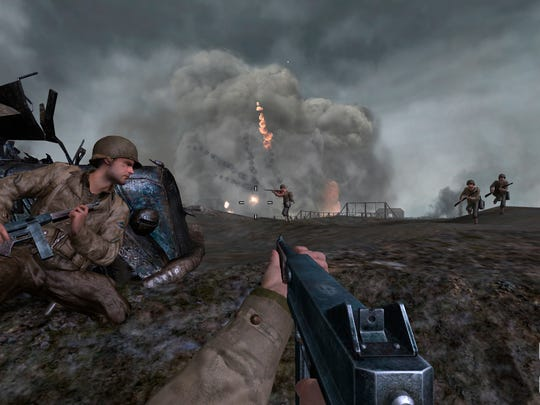 A screen shot from 'Call of Duty 2,' released in 2005.