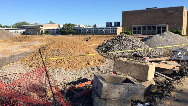 Greece Olympia High School's front parking lot is being revamped.