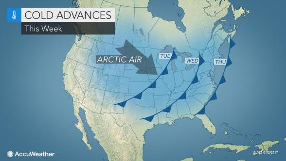 Frigid temperatures return to the Northeast this week.