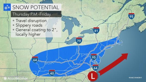 Snow and cold temperatures are expected for the Lower Hudson Valley in the coming days.