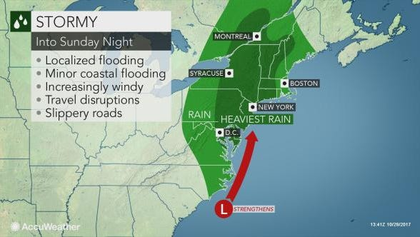 Wind and storms are expected to hit central Pa. into Sunday night.