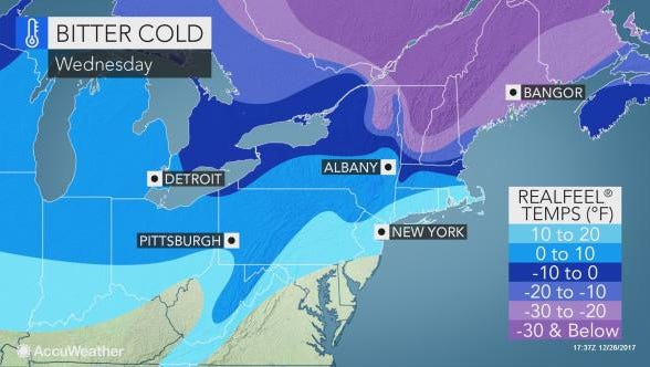 According to Accuweather, the high in York is not expected to rise above freezing until Jan. 6.