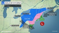 A nor'easter is expected to bring rain, wind and snow to the Lower Hudson Valley on Friday.