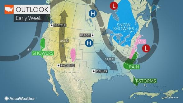 Accuweather Senior Forecaster Heather Zehr said the storm is developing today and will move east.