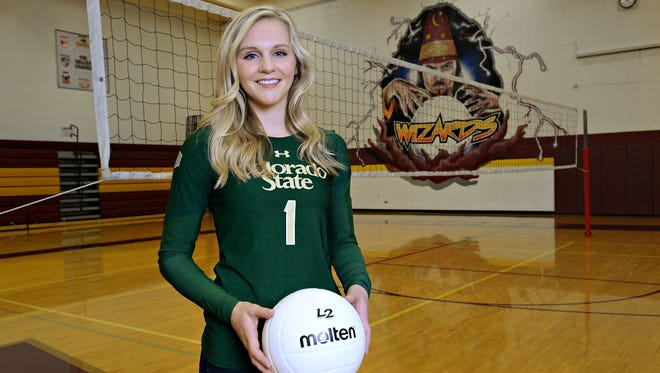 Windsor High School graduate Jaime Colaizzi grew up dreaming of playing volleyball at CSU. She'll leave second on the Rams' all-time digs list.
