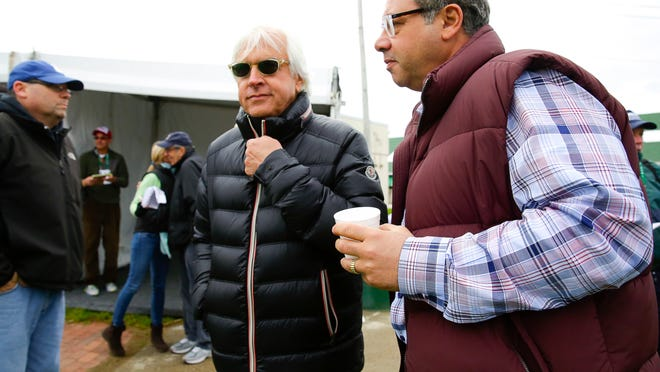 Trainer Bob Baffert and Ahmed Zayat, owner of American Pharaoh, make the rounds this week at Churchill Downs.