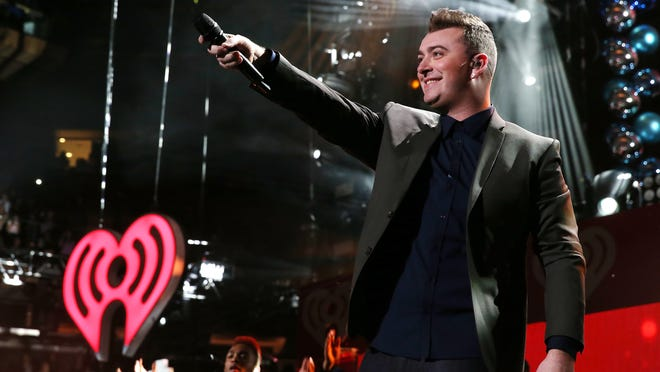 Sam Smith?s Stay With Me should take home song of the year. NEW YORK, NY - DECEMBER 12: Sam Smith performs onstage during iHeartRadio Jingle Ball 2014, hosted by Z100 New York and presented by Goldfish Puffs at Madison Square Garden on December 12, 2014 in New York City. (Photo by Kevin Kane/Getty Images for iHeartMedia) ORG XMIT: 526582263 ORIG FILE ID: 460390420