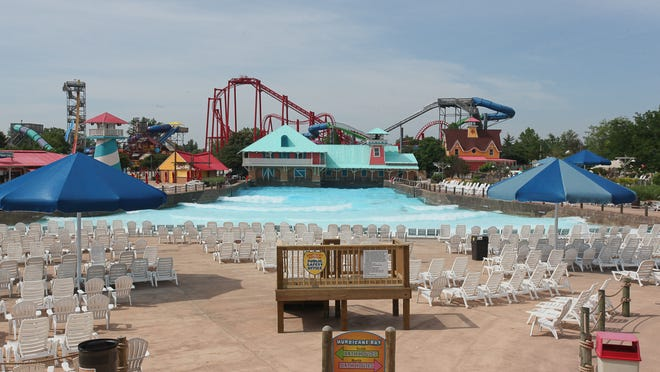 Hurricane Bay Big Surf is an option for visitors to Kentucky Kingdom who don't like coasters. Hurricane Bay Big Surf at Kentucky Kingdom in Louisville, KY. May 20, 2015