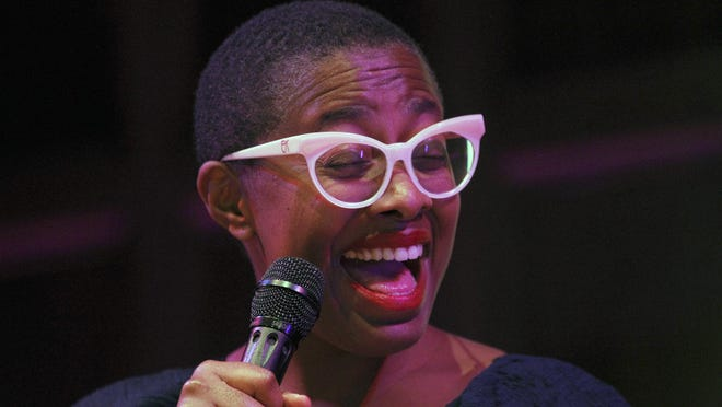 Cecile McLorin Salvant performs in Kilbourn Hall on the opening night of the Xerox Rochester International Jazz Fest.