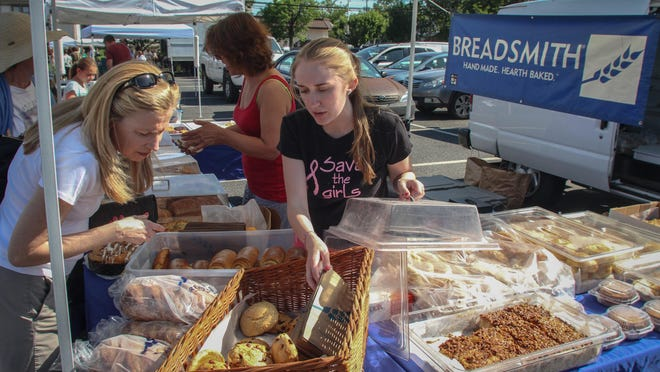 The Galleria Red Bank market offers local produce grown by New Jersey farmers on Sundays.