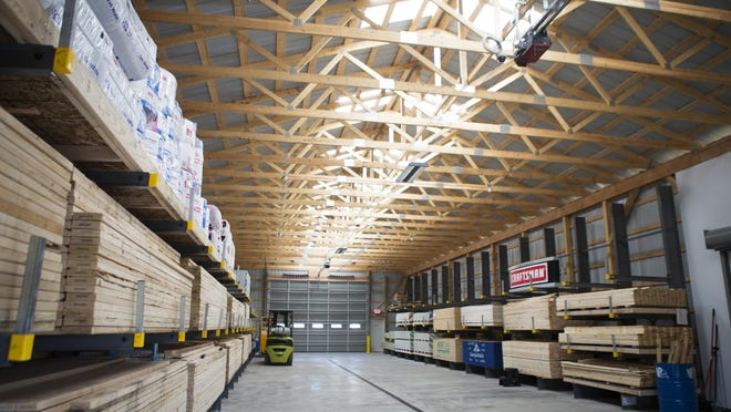 A recently added lumber yard is at the Crocker's Ace Hardware Store in Le Roy.