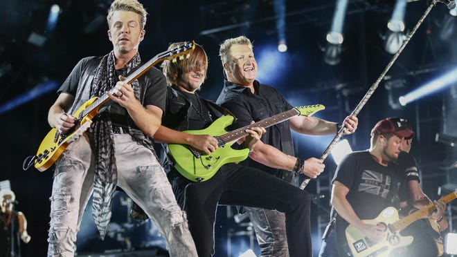 Rascal Flatts performs at LP Field at the CMA Music Festival in Nashville, Tenn., this past June. Officials in Atlantic City hope that this weekends free beach concerts by Rascal Flatts and Maroon 5 bring some much needed revenue to the struggling resort town.