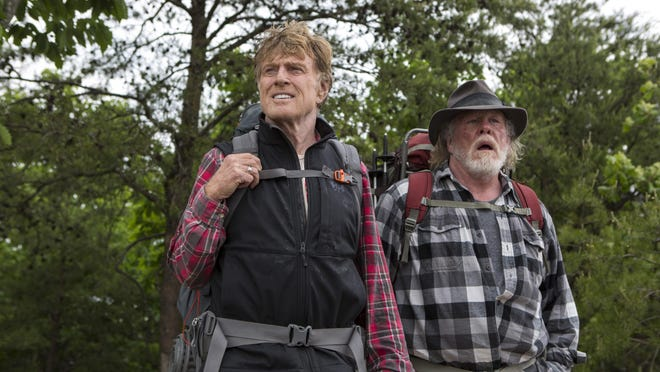 """Robert Redford, left, and Nick Nolte star in """"A Walk in the Woods."""""""