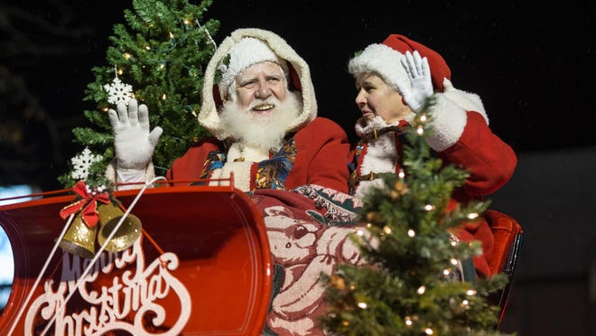 Santa and Mrs. Claus rode in the annual Holiday Parade in downtown Oshkosh last year. This year the parade is Thursday, Nov. 12.
