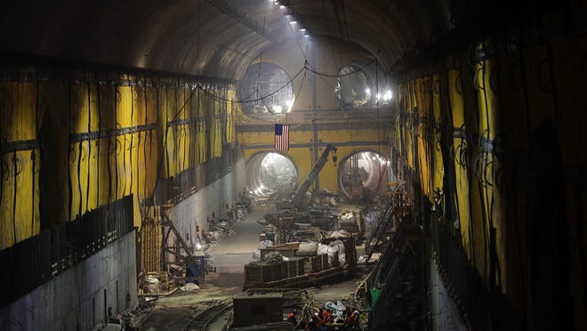 A tunnel of the East Side Access project, Nov. 4, 2015, in New York City. The project includes over 11 miles of tunnelling and consists of work in multiple locations in Manhattan, Queens and the Bronx as well as a new Long Island Rail Road terminal beneath Grand Central Terminal. It is expected to be completed in 2022.