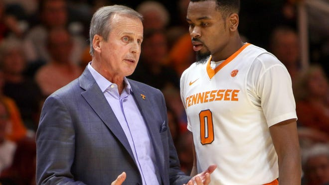 Kevin Punter, right, had a career-high 31 points in coach Rick Barnes first game with Tennessee on Nov. 13, 2015, against UNC Asheville.