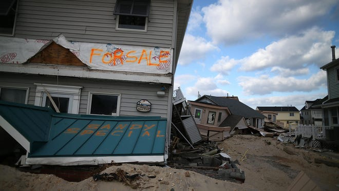 Homes badly damaged by superstorm Sandy are seen in this November 2012 photo in the Ortley Beach section of Toms River.