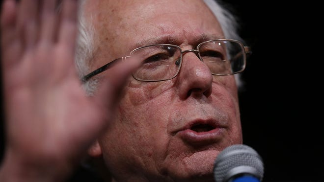 Democratic presidential candidate Sen. Bernie Sanders speaks during a forum at Roosevelt High School on January 28, 2016 in Des Moines, Iowa.