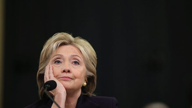 Former Secretary of State Hillary Clinton testifies before the House Select Committee on Benghazi on Oct. 22.