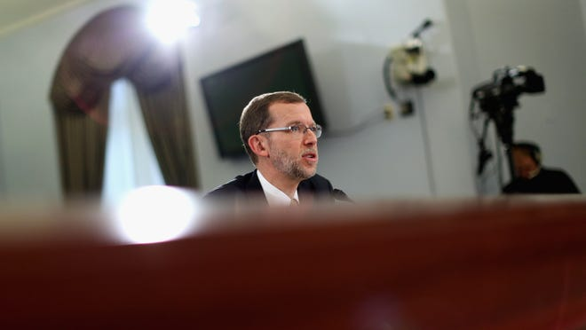 WASHINGTON, DC - FEBRUARY 05:  Congressional Budget Office Director Douglas Elmendorf testifies before the House Budget Committee in the Cannon House Office Building on Capitol Hill February 5, 2014 in Washington, DC. Committee members questioned Elmendorf about the latest projections by the CBO, which says the Affordable Care Act, or Obamacare, will affect supply and demand for labor, leading to a net reduction of about 2.5 million full-time jobs by 2024.  (Photo by Chip Somodevilla/Getty Images)