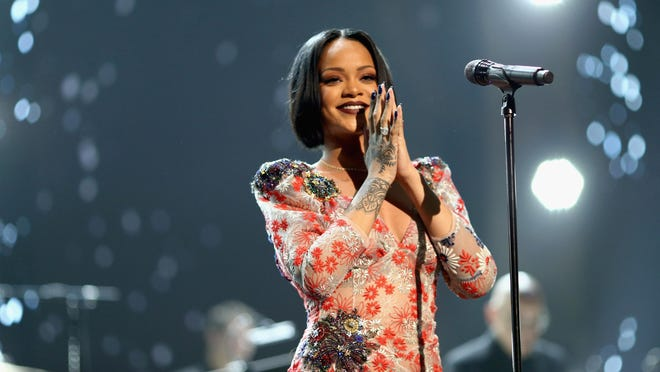Rihanna plays 7:30 p.m. Saturday at the Prudential Center, 25 Lafayette St., Newark. $30.50-$151; 973-757-6600; www.prucenter.com.